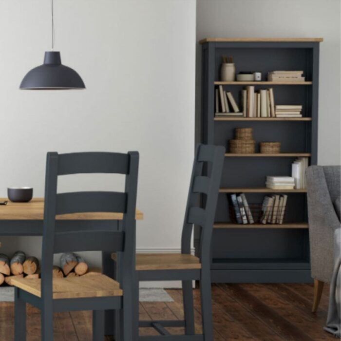 Charlie Charcoal and Oak Dining Chair