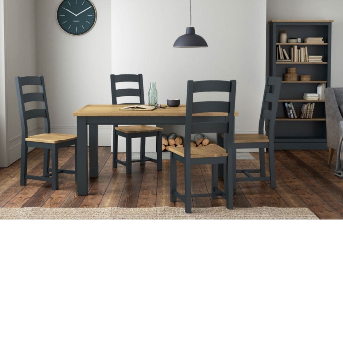 Charlie Charcoal and Oak Dining Table