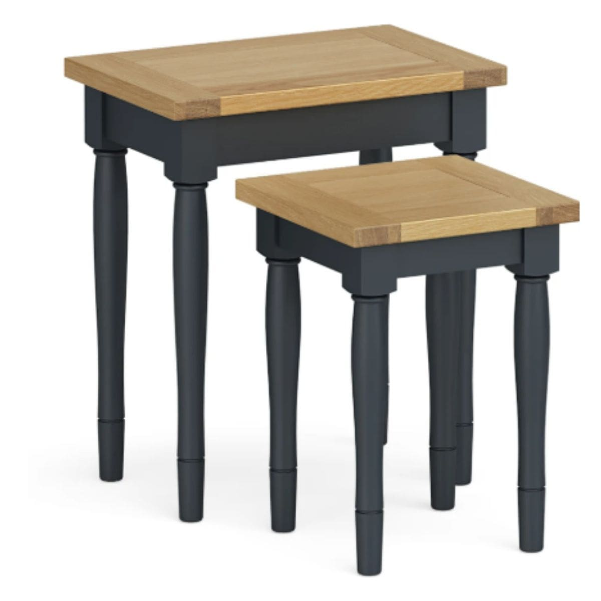 Charlie Charcoal and Oak Nest of Tables
