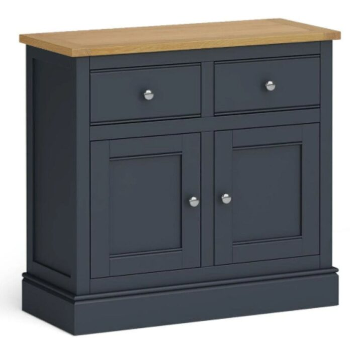 Charlie Small Charcoal and Oak Sideboard