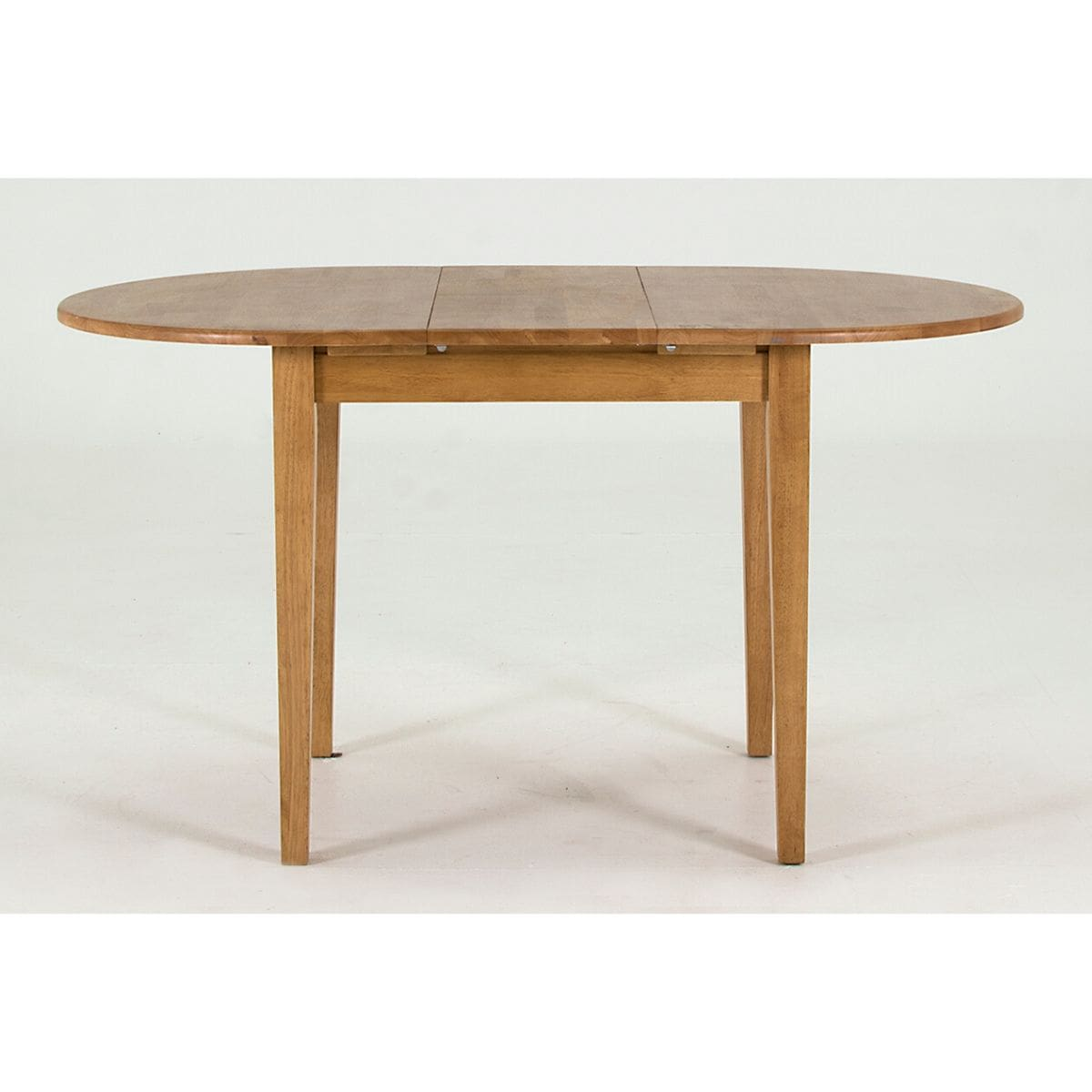 Round Wood Extendable Dining Table