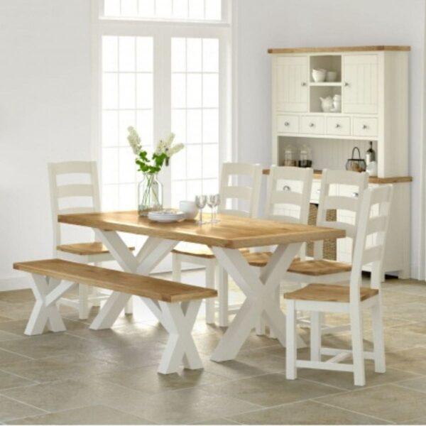 Sabina Dining Set available at Corcoran's Furniture & Carpets