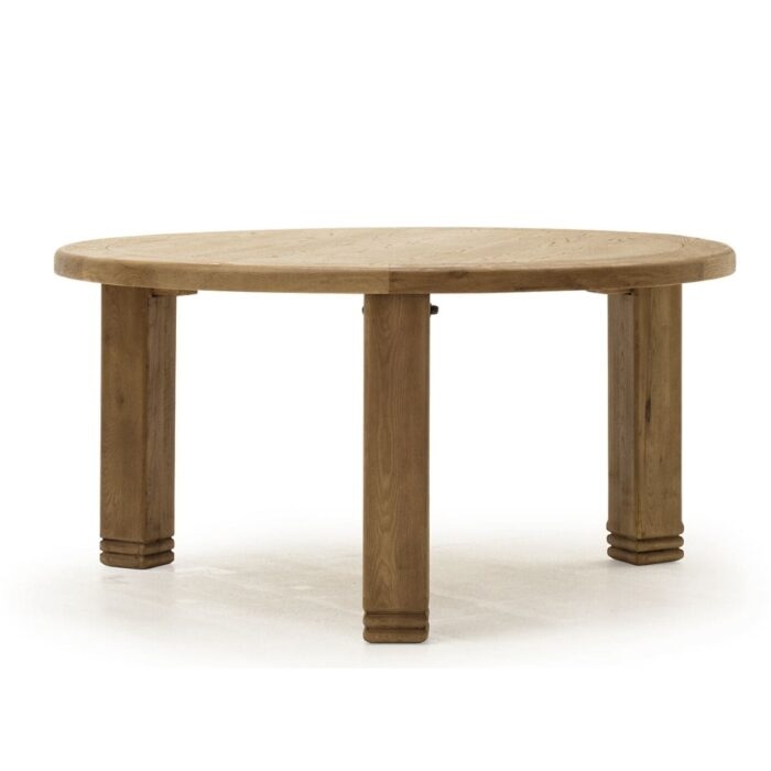 Rustic Oak Round Dining Table