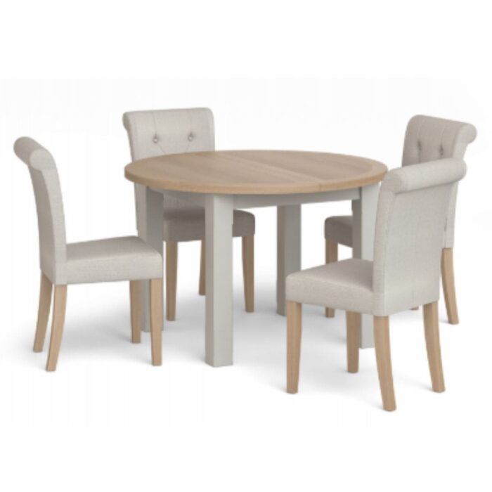 Grey Button Back Dining Chair