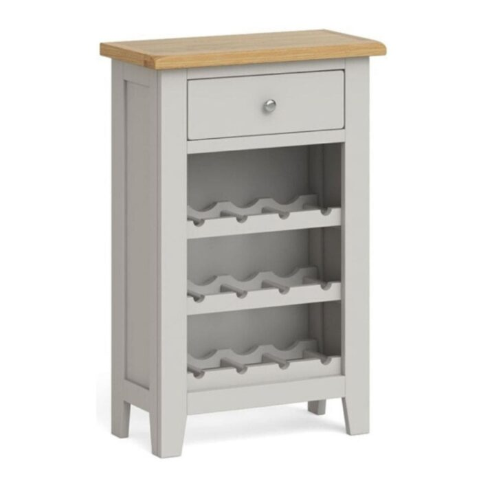 Grey Sideboard with Wine Rack