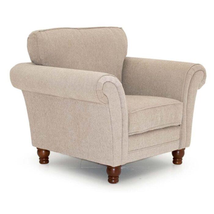 Hadrian Fabric Rolled-Arm Armchair