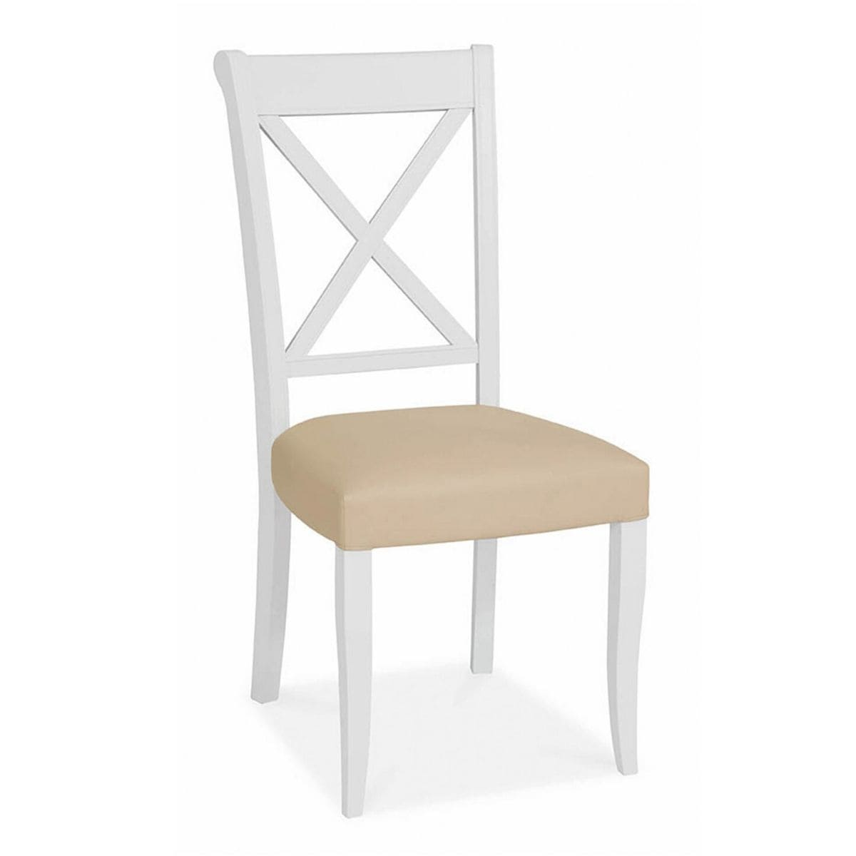 White Cross Back Dining Chair