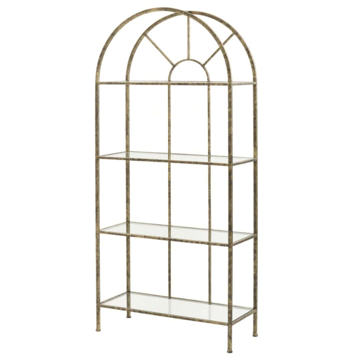 Metal and Glass Etagere