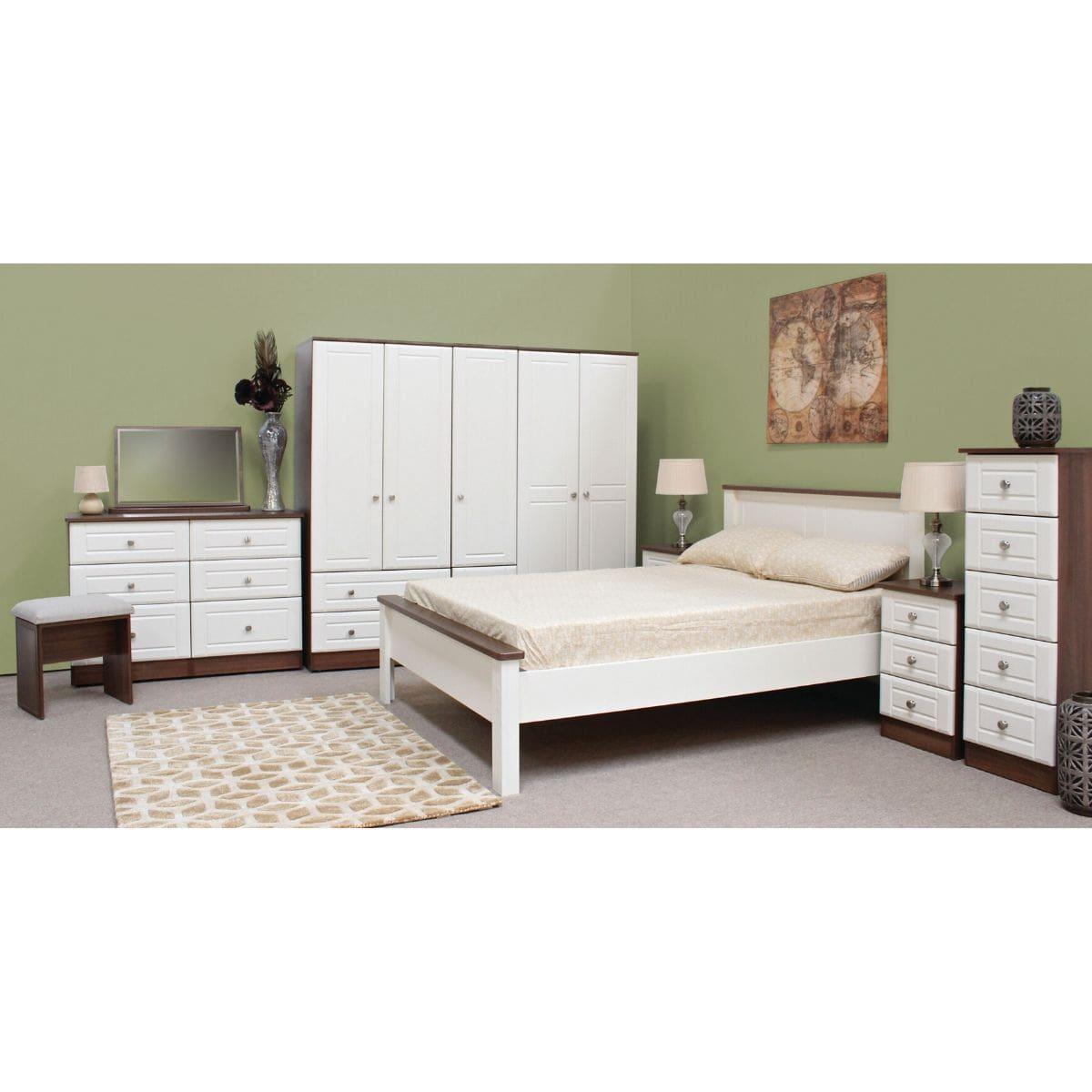 Lee Bed Frame Walnut & Ivory