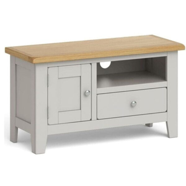 Gentry TV unit available at Corcoran's Furniture & Carpets