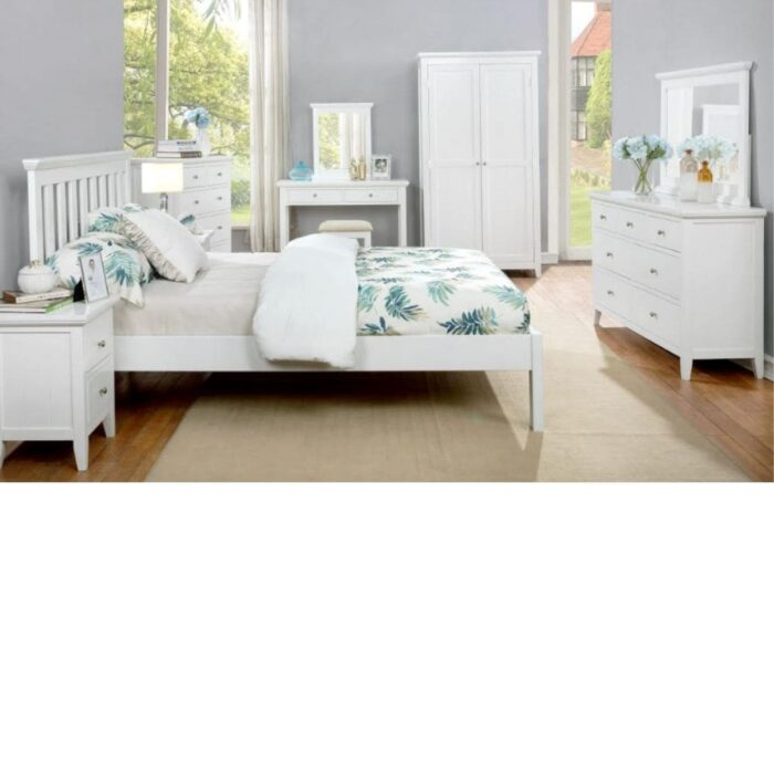 Lolly White Bedroom Mirror