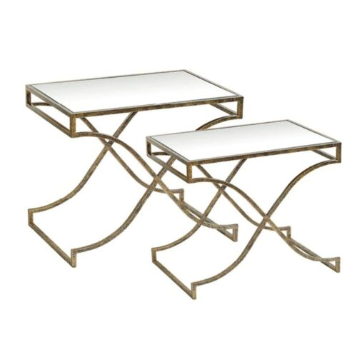 Mirrored End Table Set