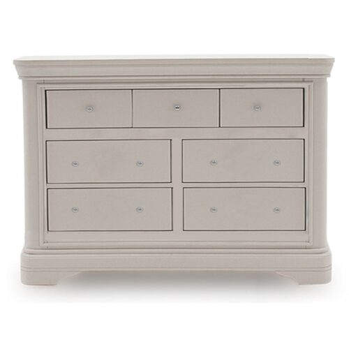 Grey Pine 7 Drawer Chest of Drawers