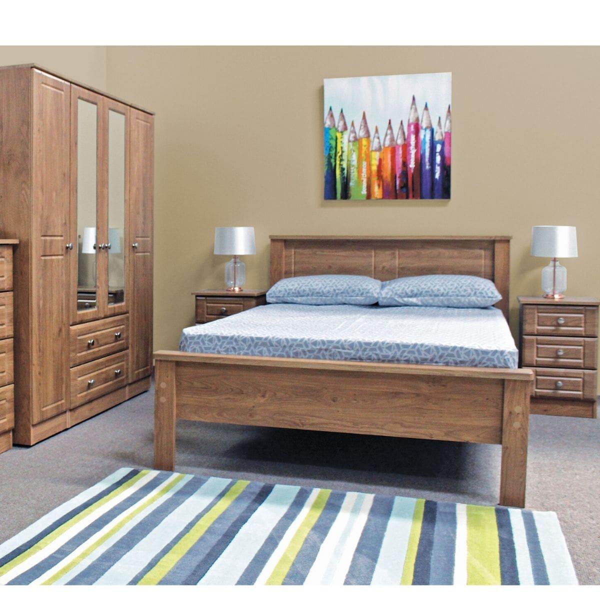 Oak Wooden Bed