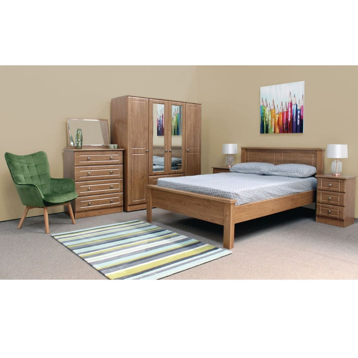 Nore Oak Wardrobe - 19 Options