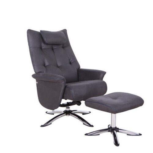 Otis Swivel Armchair and Footstool