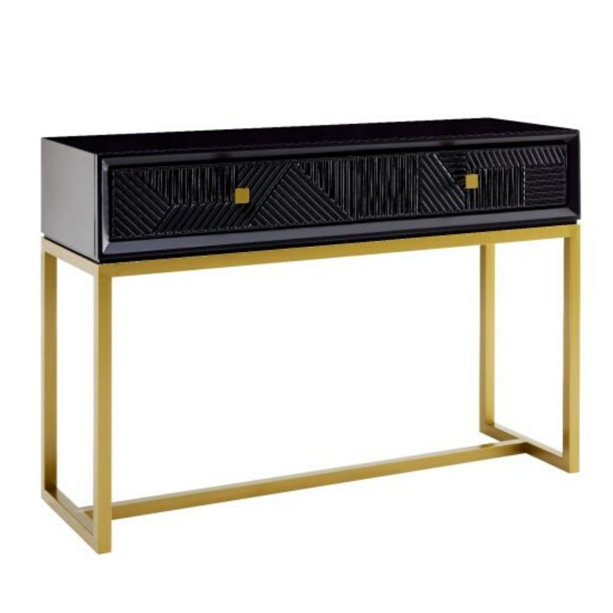 Ottawa Black and Gold Console Table