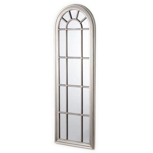 Antique Silver Window Shaped Mirror