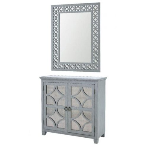 Russell Mirrored Sideboard and Mirror Set