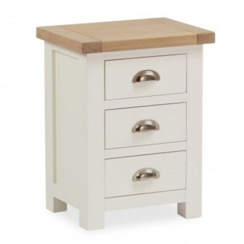 Sabina Two-Tone Oak Bedside Table