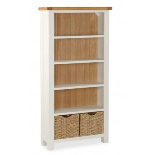 Sabina Two-Tone Oak Large Bookcase