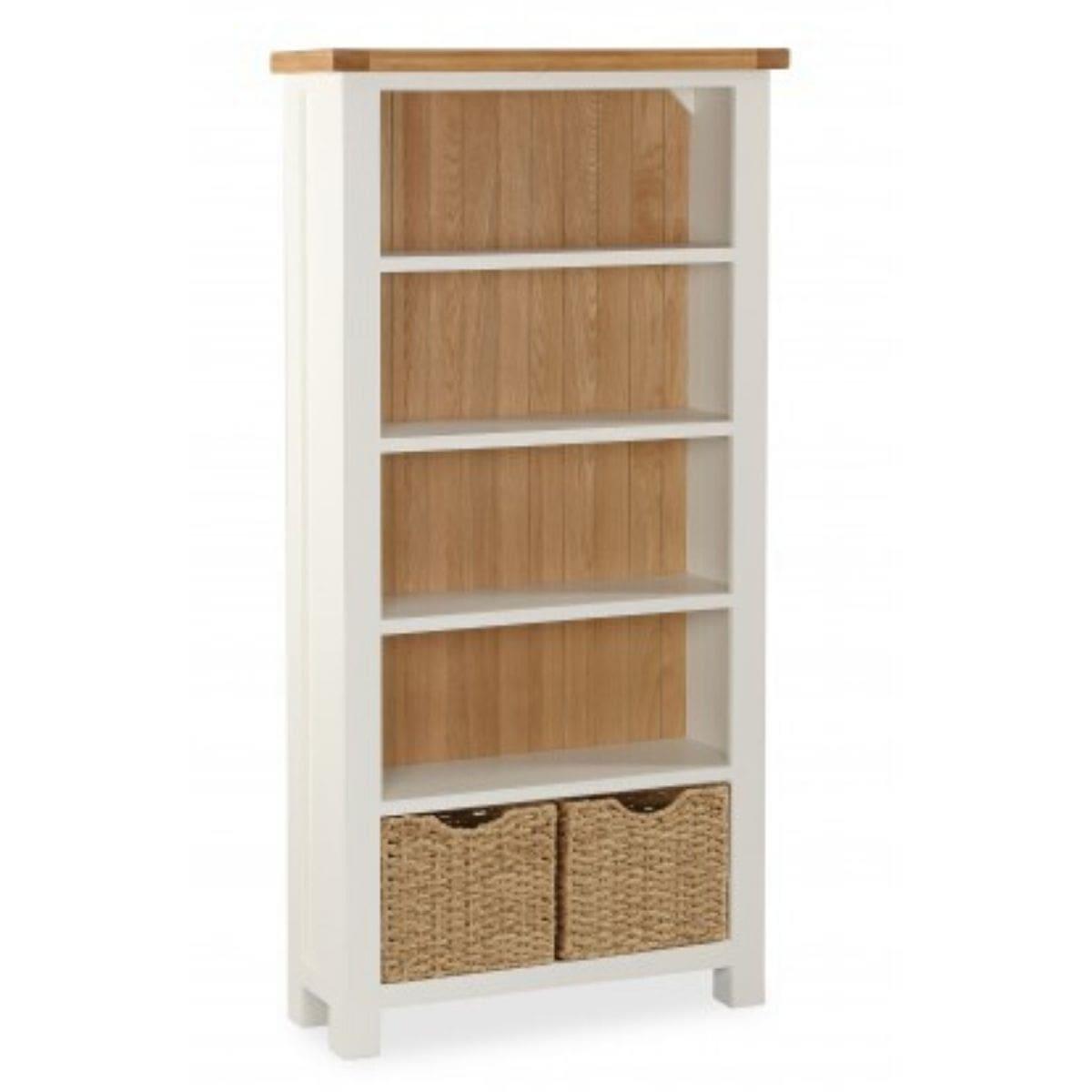 Sabina Two-Tone Oak Large Bookcase