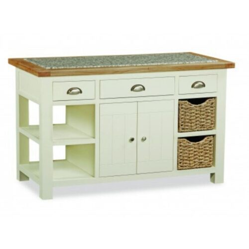 Sabina Two-Tone Oak Kitchen Island