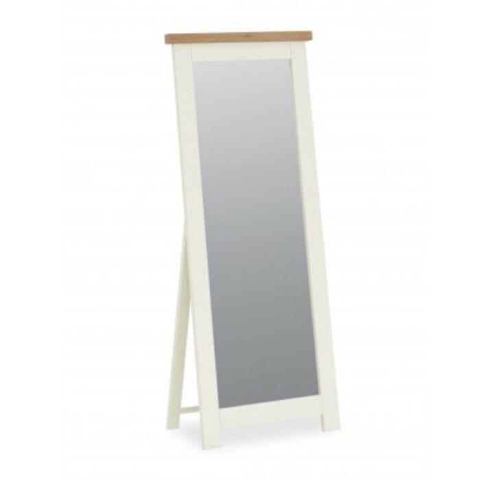 Sabina Two-Tone Oak Cheval Mirror