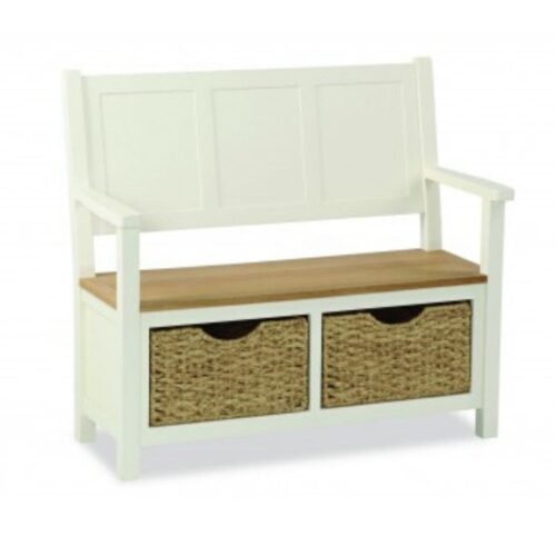 Sabina Two-Tone Oak Monk Bench