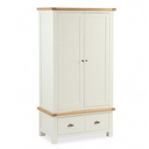 Sabina Two-Tone Oak Double Wardrobe