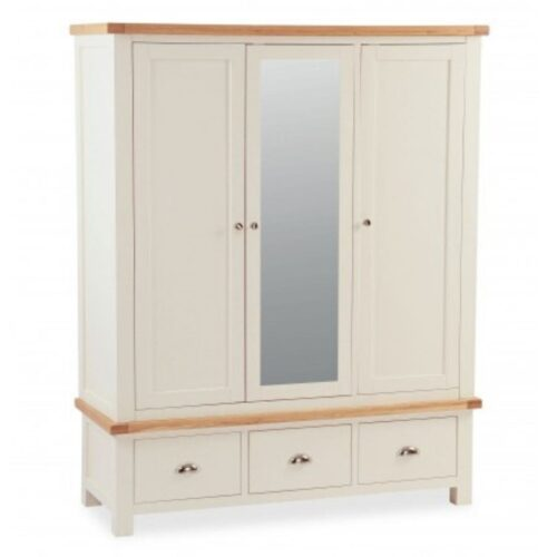 Sabina Triple Wardrobe with Mirror