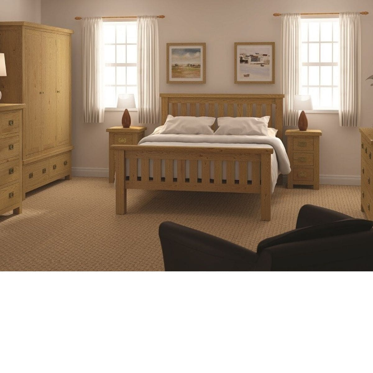 Sonia Slatted Bed Frame