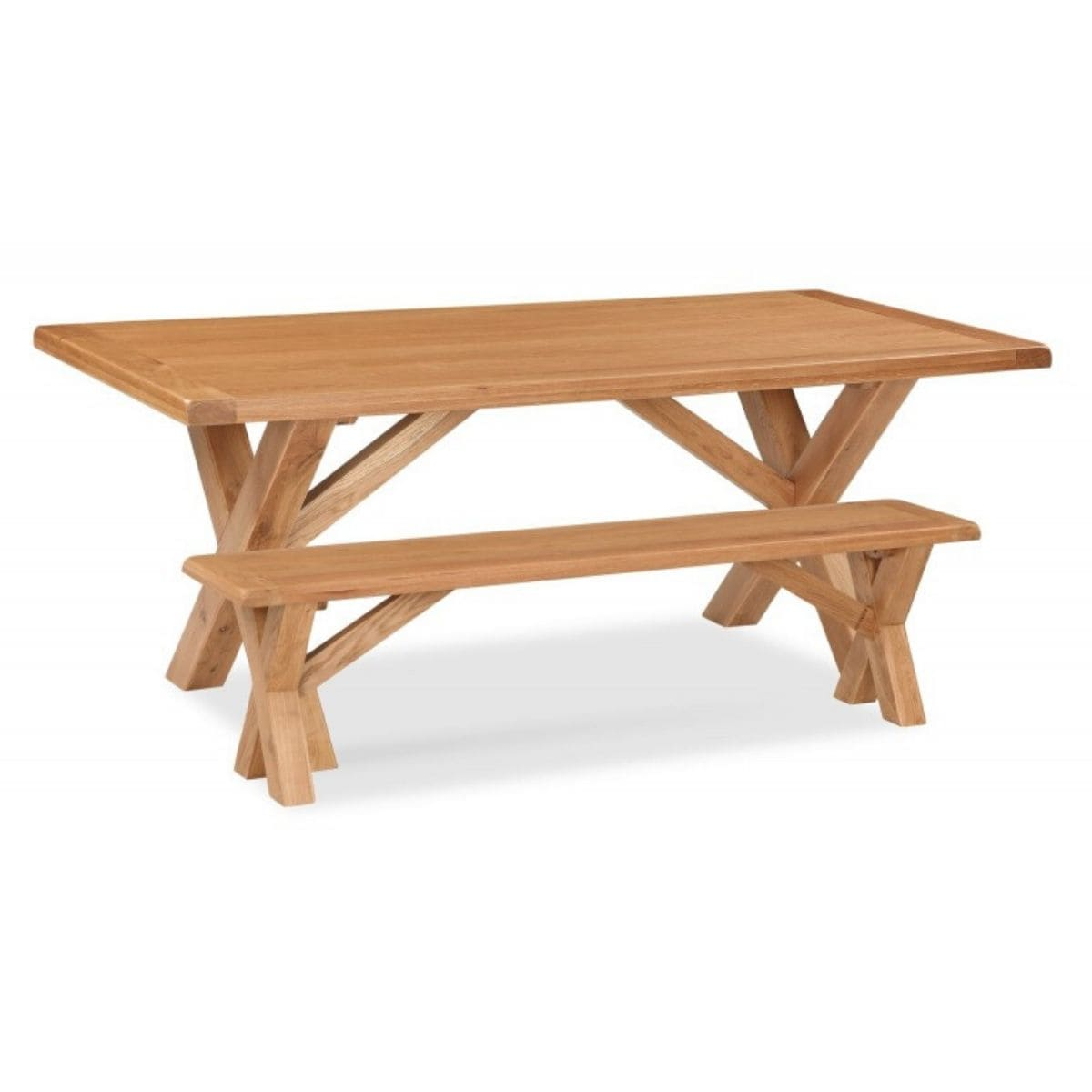 Sonia Fixed Cross Dining Table