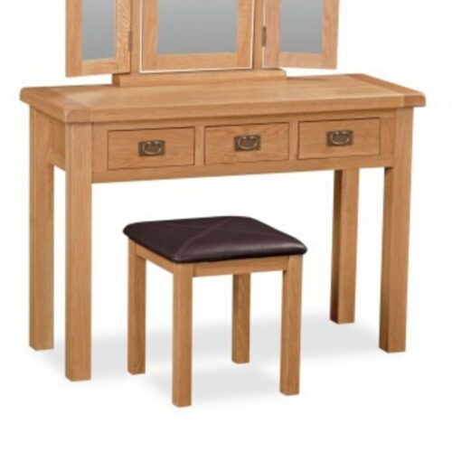 Sonia Oak Wide Dressing Table