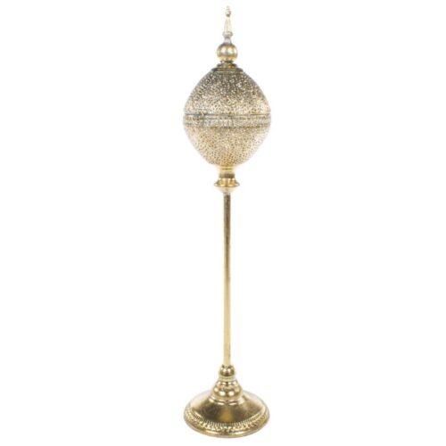 Gold Globe Tealight Holder