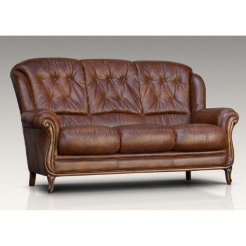 Terni Leather 3 Seater Sofa
