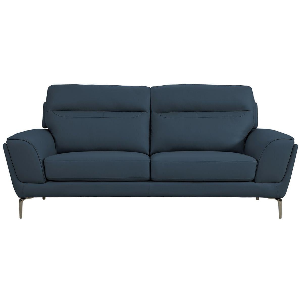 Velisse Leather 3 Seater Sofa