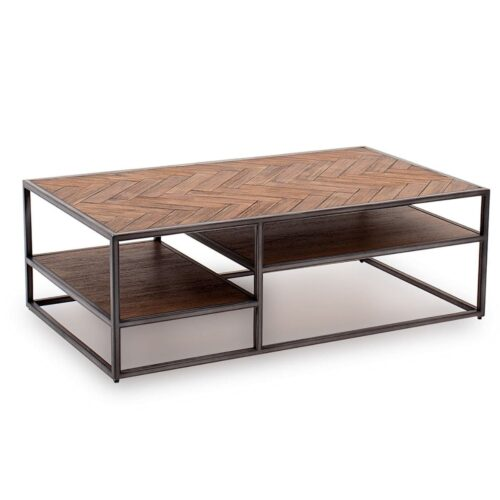 Vita Acacia Wood & Metal Coffee Table