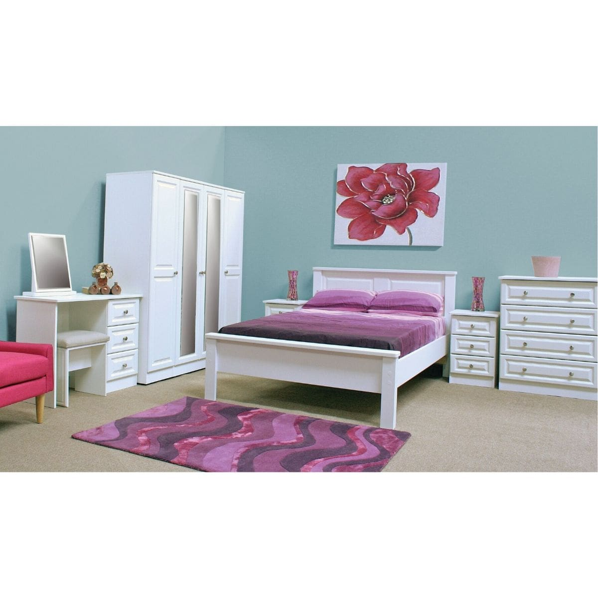 Wales Chest of Drawers White - 7 Options