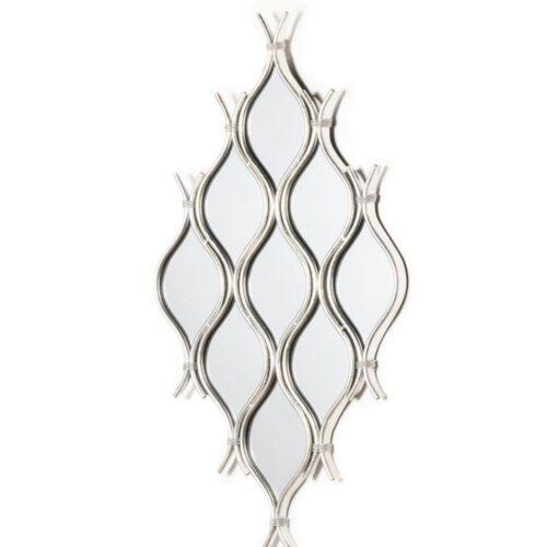 Silver Leaf Cluster Mirror