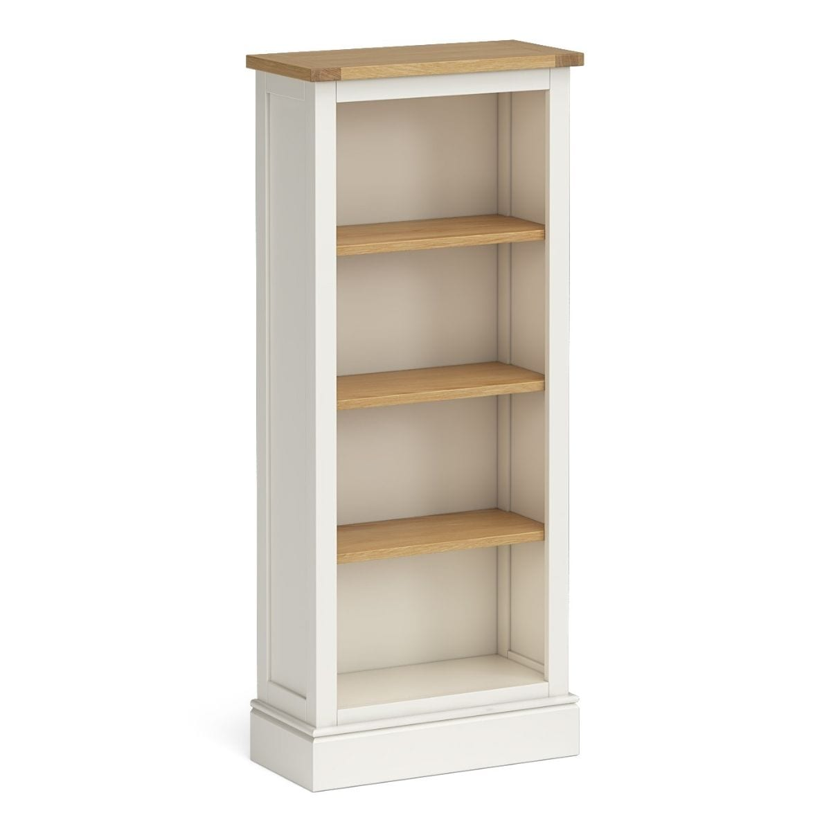 Charlie Slim Ivory and Oak Bookcase