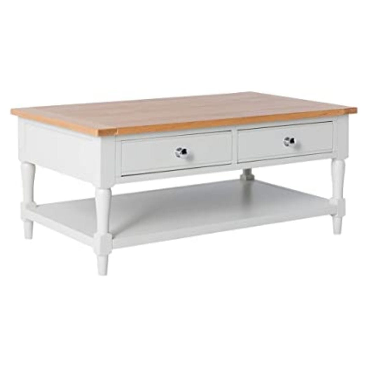 Charlie Ivory and Oak Coffee Table
