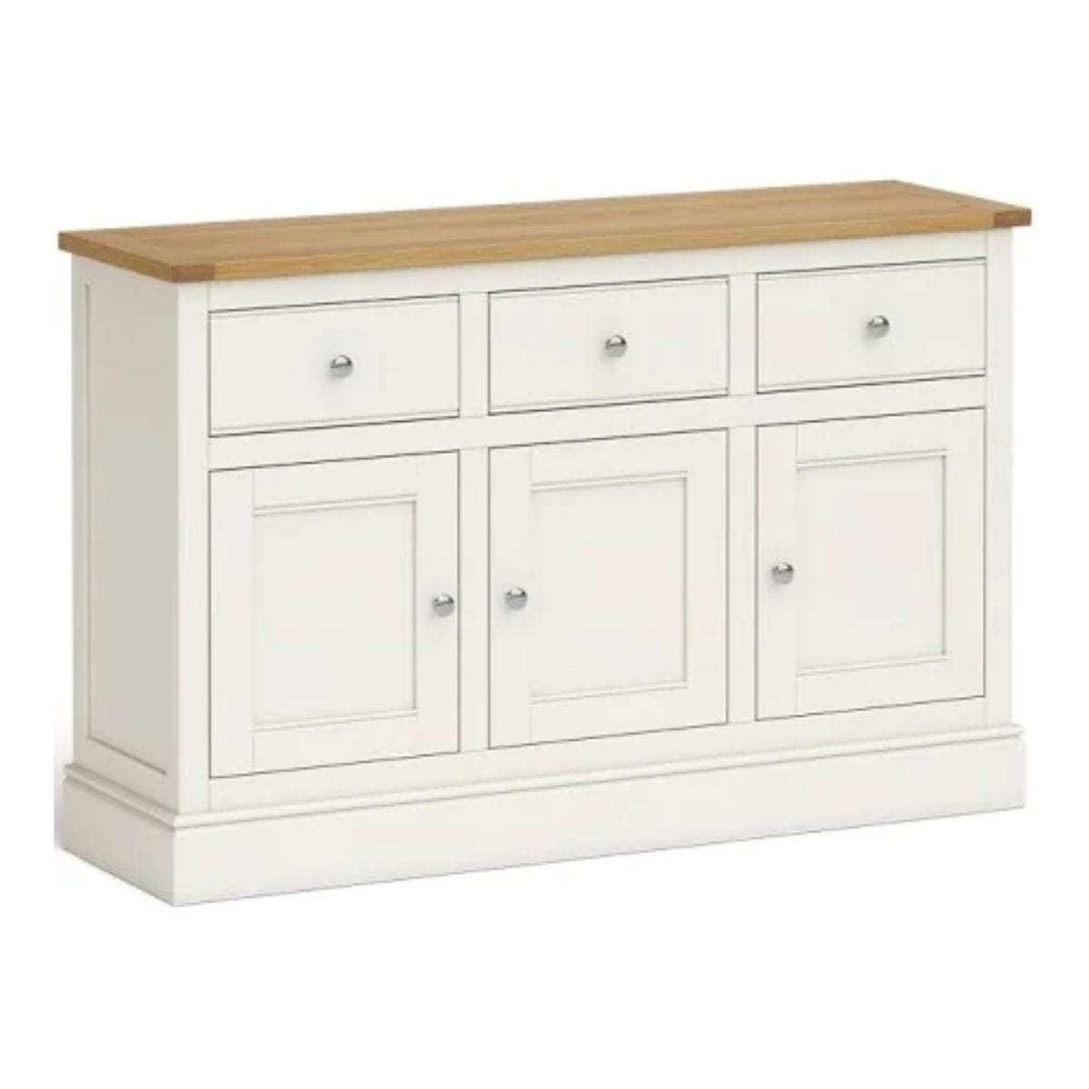 Charlie Large Ivory and Oak Sideboard