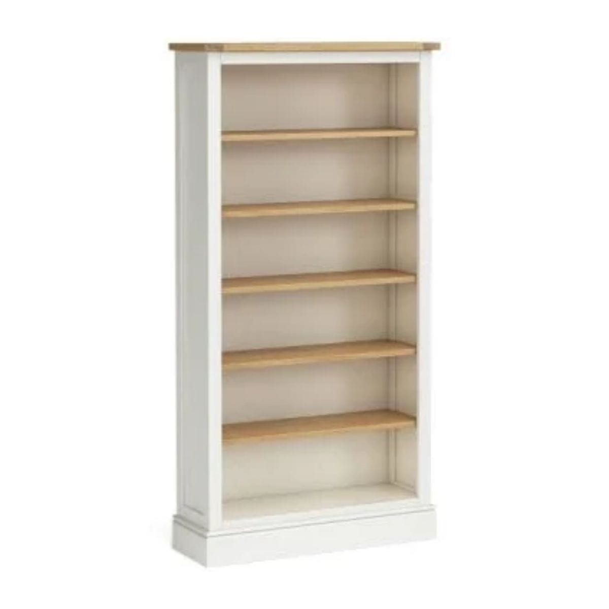 Charlie Large Ivory and Oak Bookcase