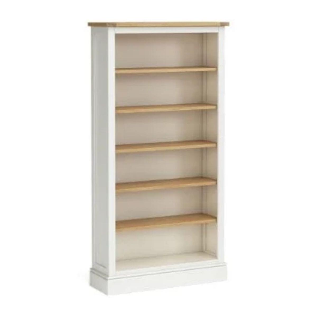 Ivory and Oak Bookcase