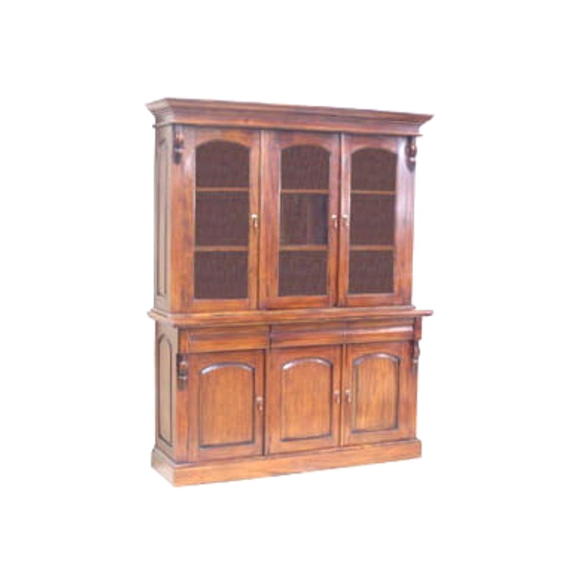 French Victorian 3 Door Bookcase